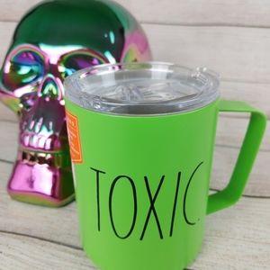 RAE DUNN TOXIC Halloween Decor Insulated Mug Coffee Cup  Green Black